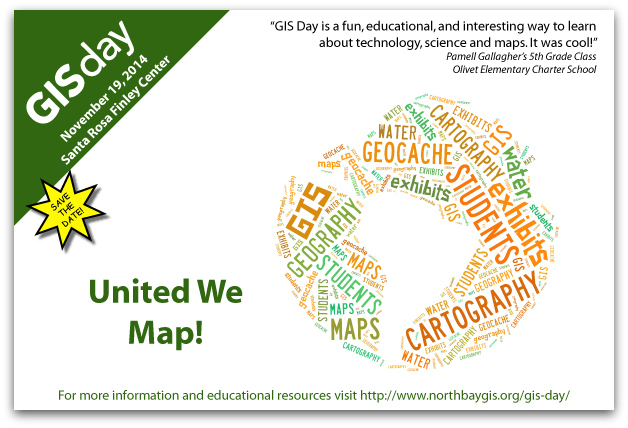 North Bay GIS Day Save the Date card